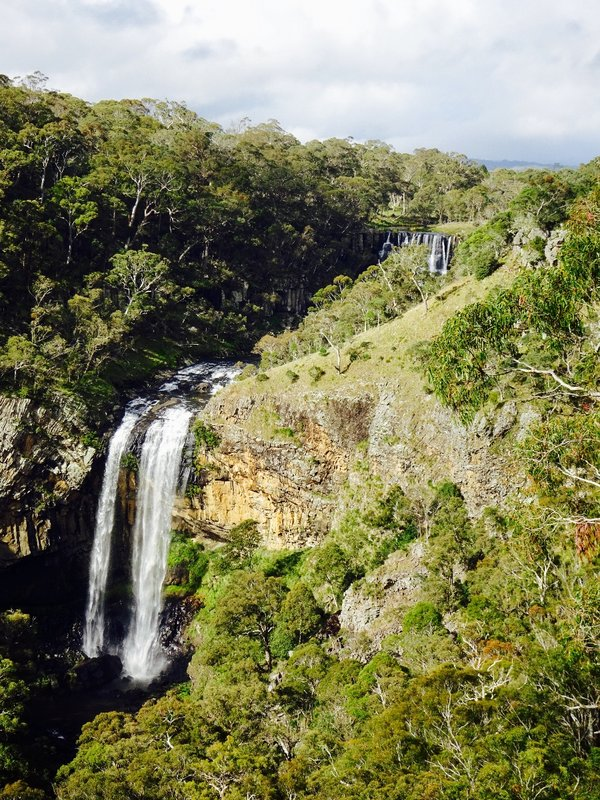 Ebor Falls is a beautiful double plunge falls in Guy Fawkes NP.