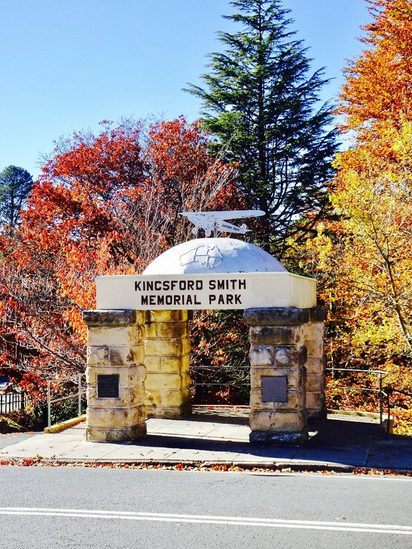 Fall colors at the Kingston Smith Memorial Park in Katoomba, NSW.