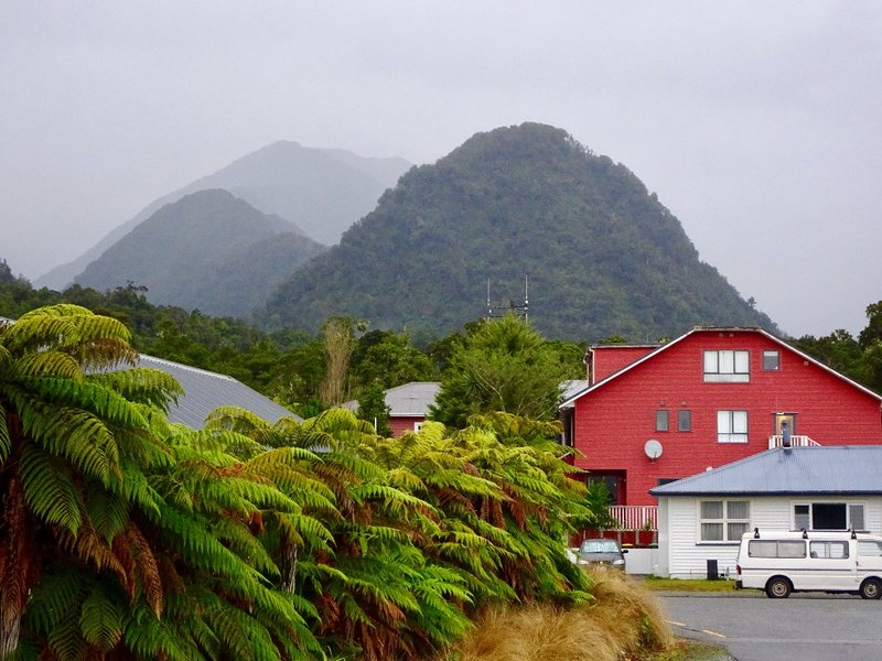 The village of Franz Josef is about 5km from the glacier..