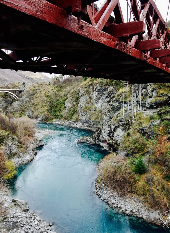 The Kawarau Gorge Suspension Bridge was built in 1880. We stopped here to view the bungee jumpers and this beautiful river.