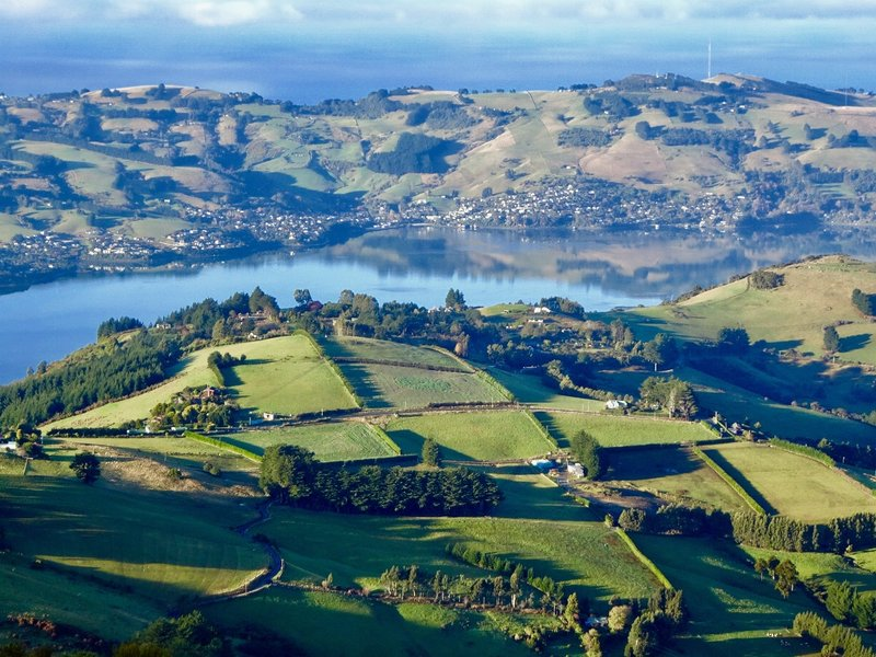 This is the mid section of the long waterway that separates the Otago Peninsula and the mainland.
