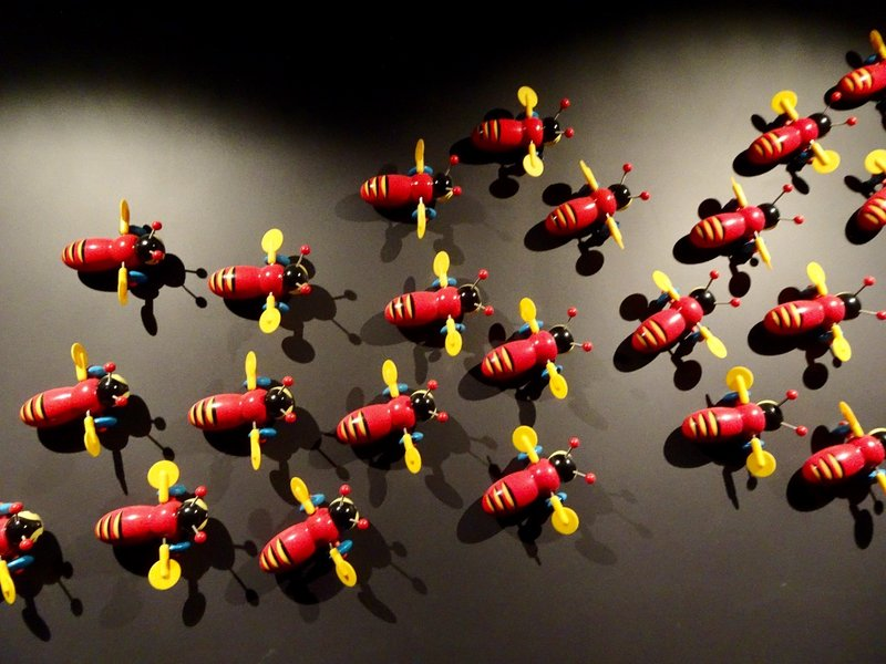 One of the most recognized items of Kiwiana is the Buzzy Bee toy. It is NZ's most famous toy. It was first designed and produced in NZ in the 1930's.