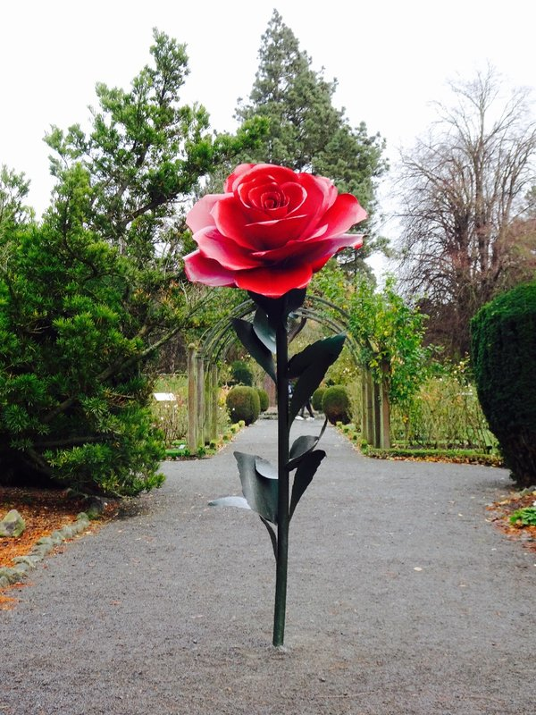 The entrance to the Central Rose Garden, a part of the Botanic Gardens at Hagley Park.