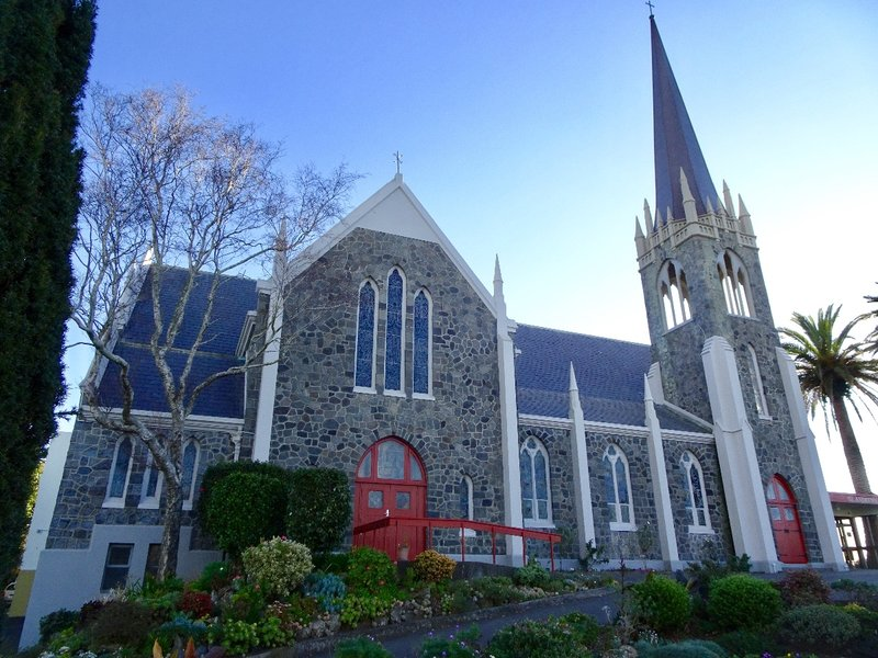 I thought St. Andrews Presbyterian Church was the prettiest church we saw in New Plymouth.