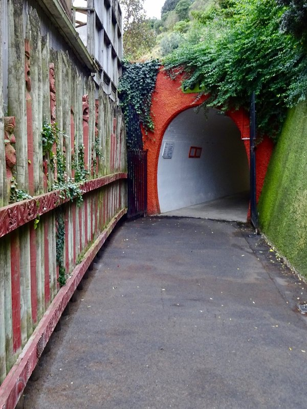 This is the street level entrance to the tunnel; we used it when returning from the Saturday Market that was taking place along the Whanganui waterfront.