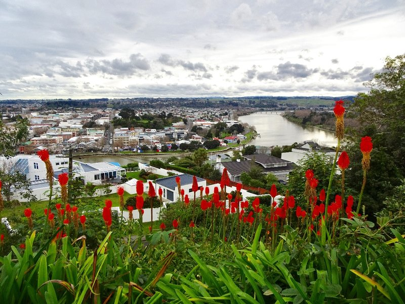 This is the view from Durie Hill; itl looks down at the Whanganui (town and river).