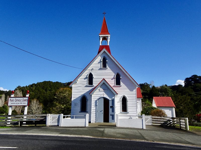 The Bohemians here were all Catholic; in 1881, they opened this church dedicated to Saints Peter and Paul. They chose this name because the first settlers arrived here on June 29th, the date that the feast for Saints Peter and Paul is usually celebrated.
