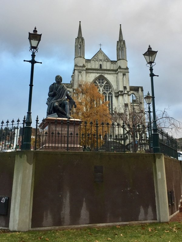 With St Paul's Anglican Church in the background, this Robert Burns statue overlooks the Octagon. The poet's nephew was one of the founders of Dunedin.