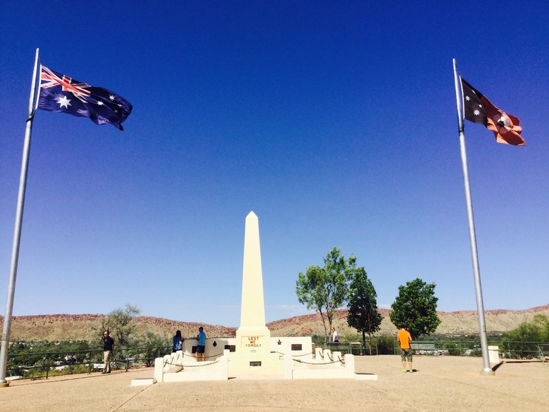 We went to the top of ANZAC Hill which overlooks Alice Springs.