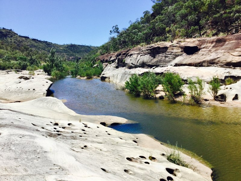 The Porcupine Creek, which runs through the gorge, was pretty tame; it is filled with rock pools for swimming.