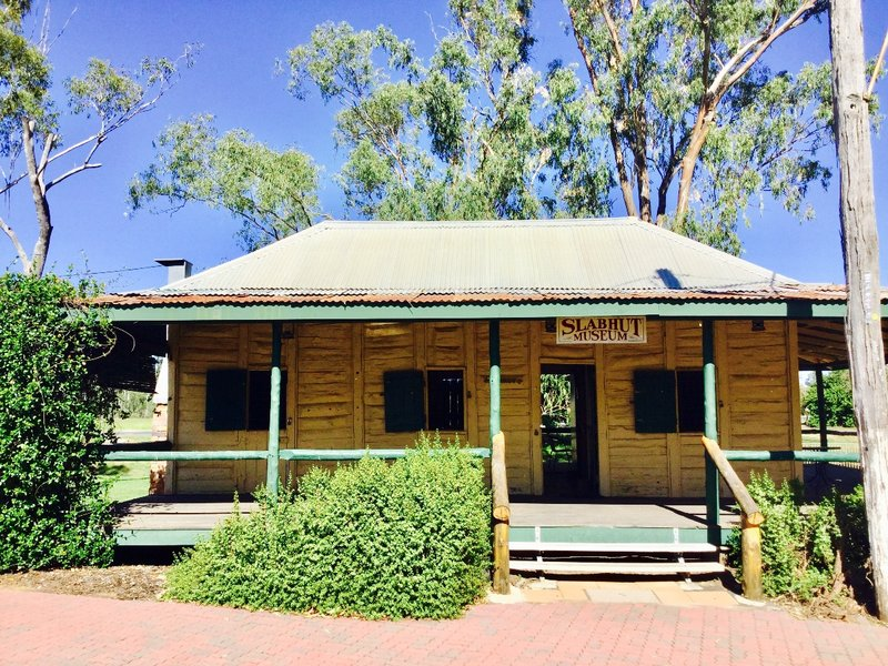 The Lenroy Slab Hut was built in 1893 to house a family of 11. Made of local cypress, only the verandah has been replaced.