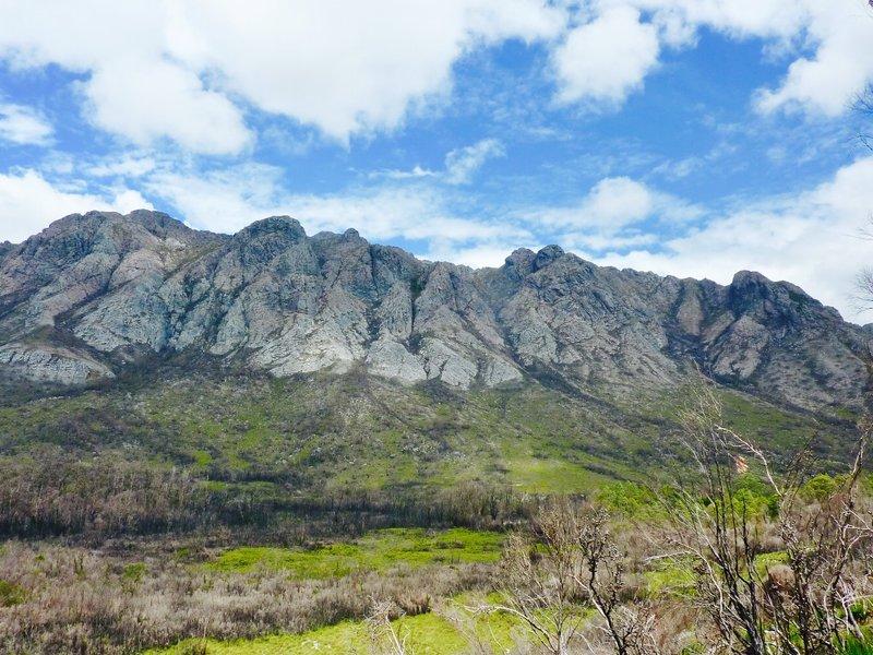 The Sentinel mountain range,  on the way to Lake Pedder.