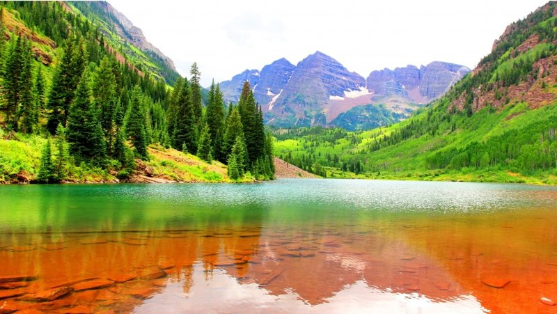 Elvin Siew Chun Wai - Usa mountains lake fir maroon bells