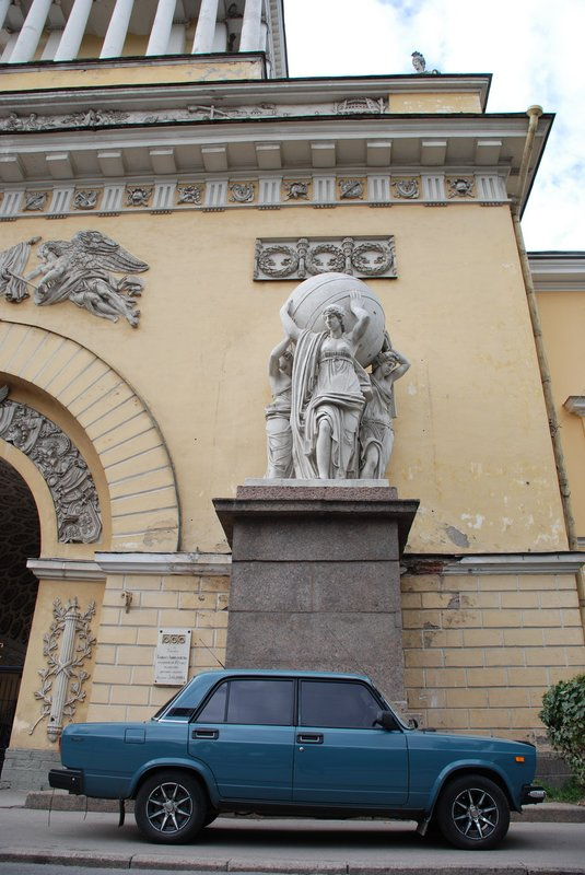 St.Petersburg - Car and church