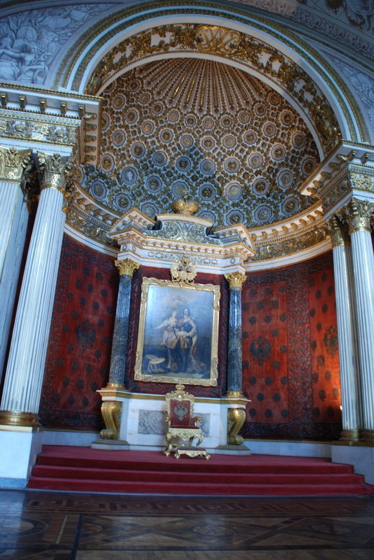 St.Petersburg (Hermitage) - Peter the Greats throneroom