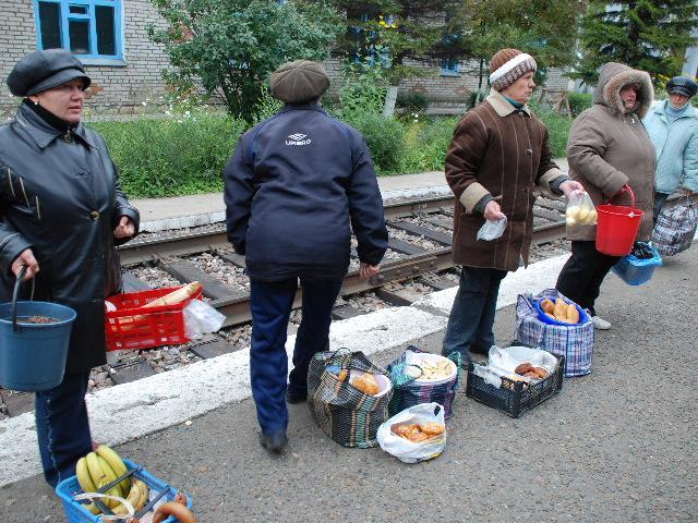 Transsiberian - Women selling food