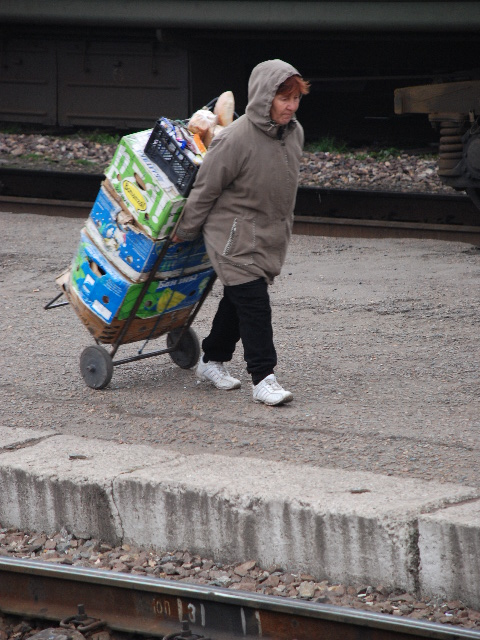 Transsiberian - Woman transporting food to sell