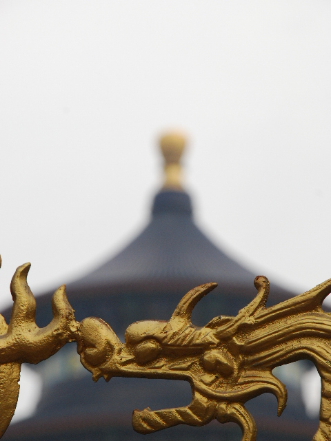 Beijing - Temple of heaven, dragon detail