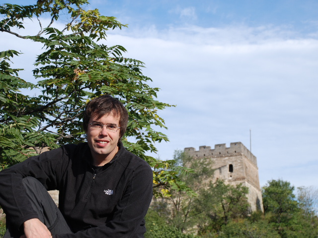 Beijing - Fredrik at the great wall