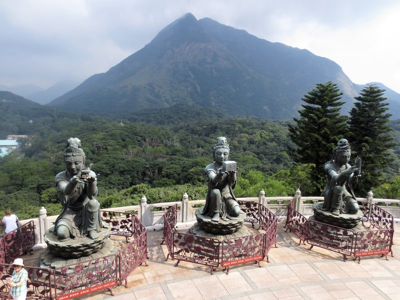 View of the mountains from the Buddha