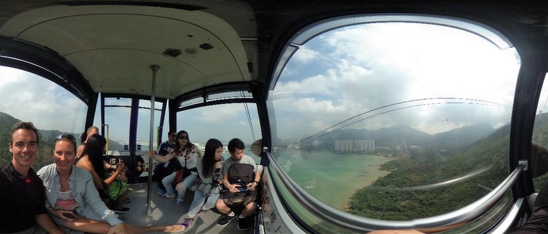 360 degree view inside the 360 cablecar