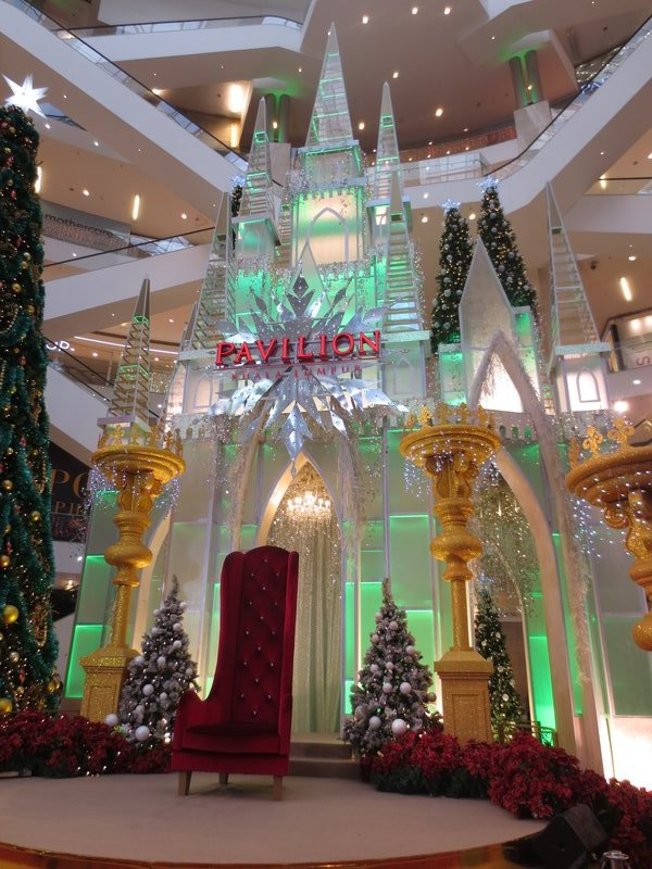 Christmas decorations in one of the KL malls