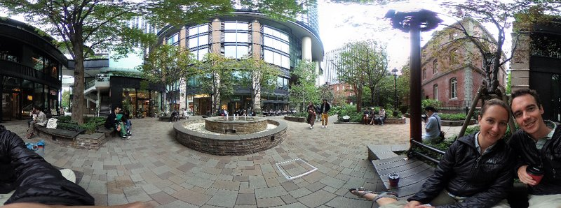 A gorgeous courtyard to enjoy with a coffee