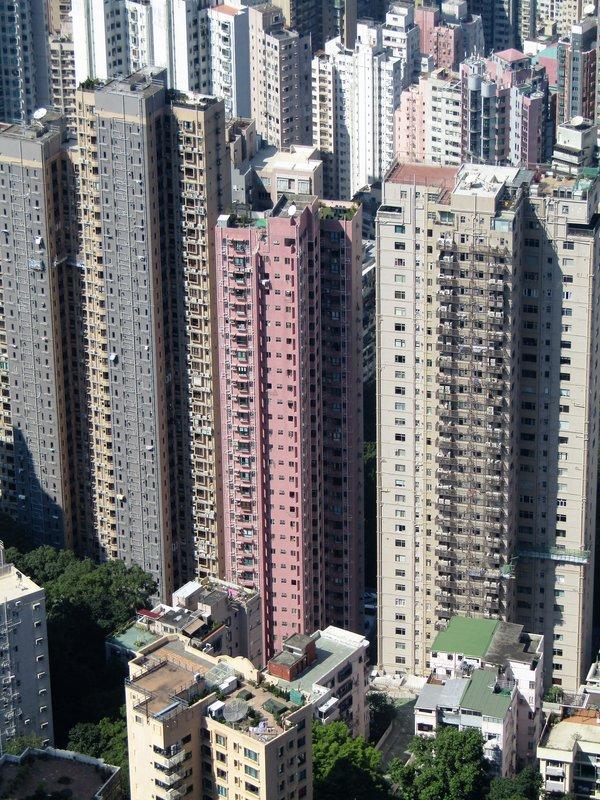 A skyscraper up close