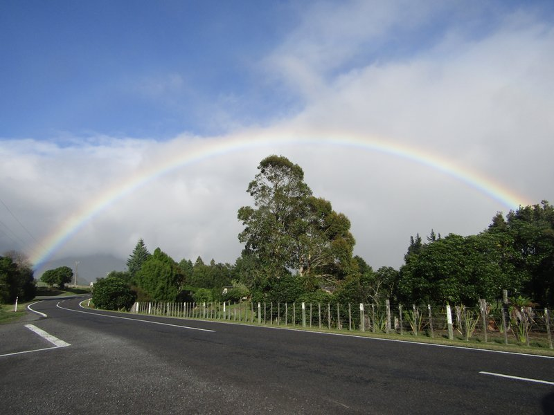 An amazing rainbow as we left Waitomo
