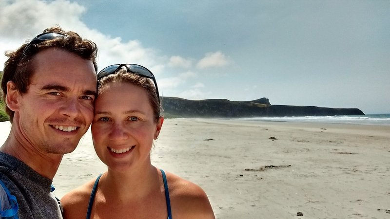 At sandfly bay beach