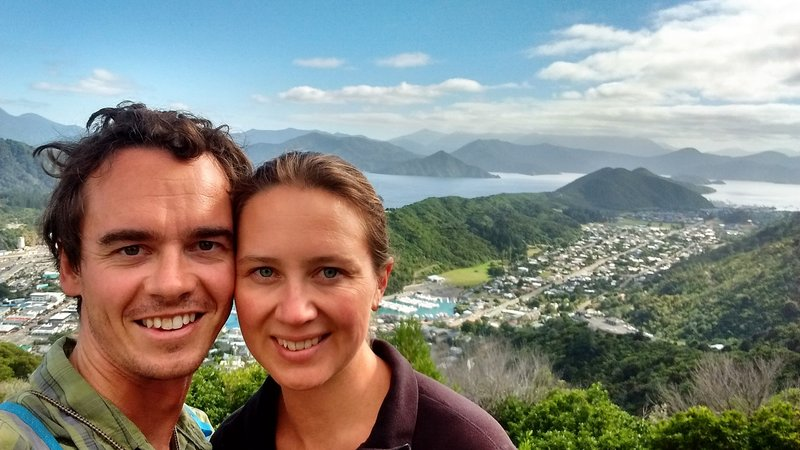 At the top of the Tirohanga Track, overlooking Picton