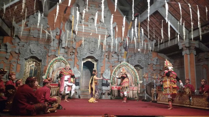 Balinese dance performed at a temple