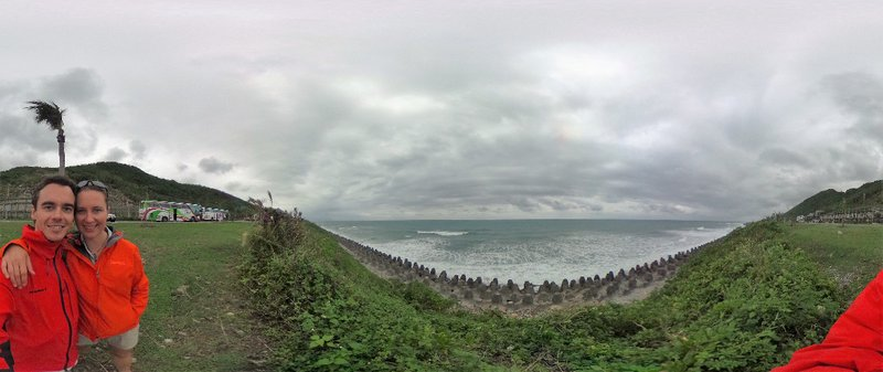Beautiful coastline, even on a cloudy day