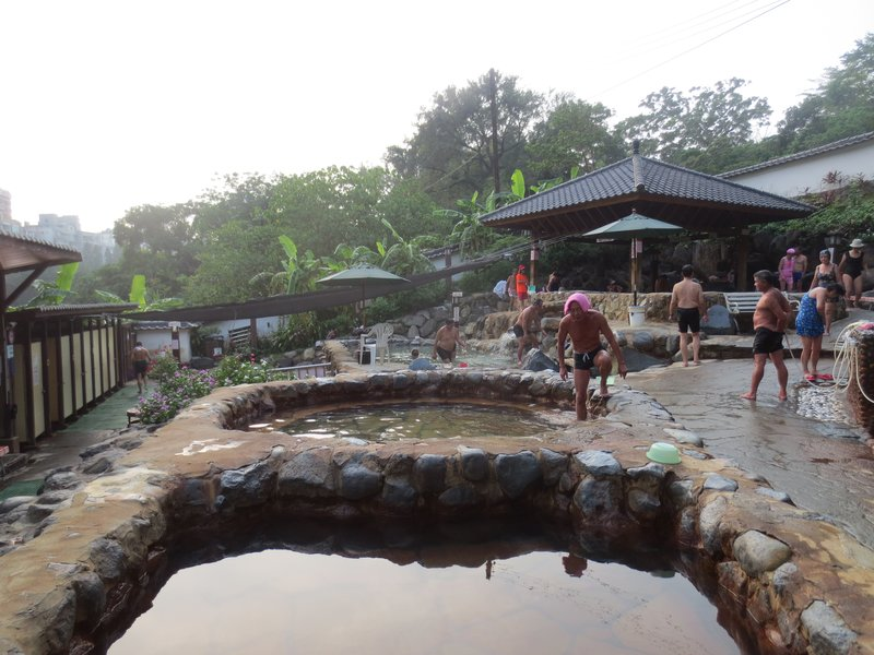 Beitou hot springs- check out the guy on the right