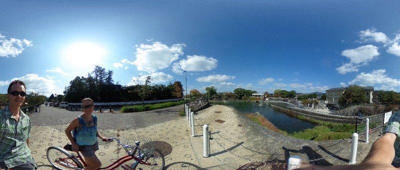 Biking along the river