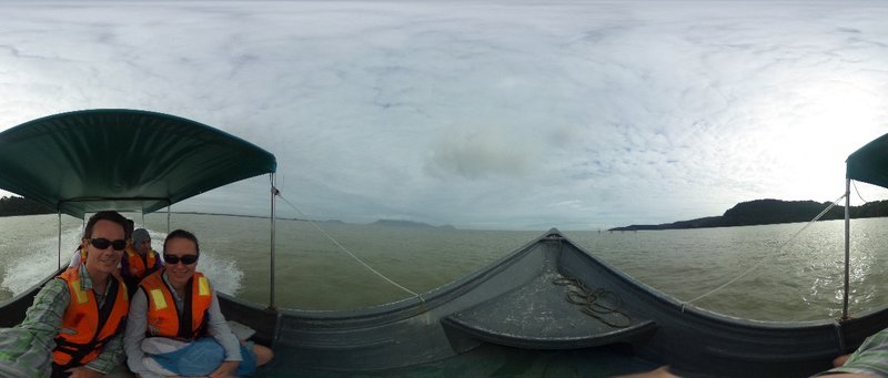 Boatride in the Chinese Strait to Bako National Park