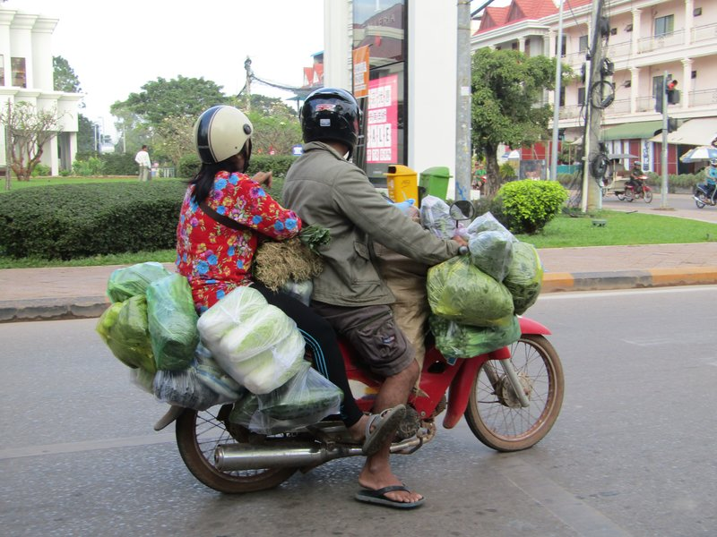 Cambodians know how to use a scooter to full capacity!