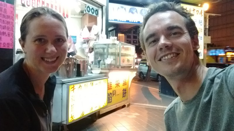 Dinner on the streets of Taipei
