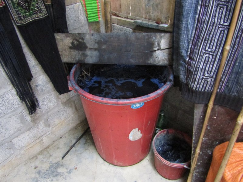 Dye from the indigo plant