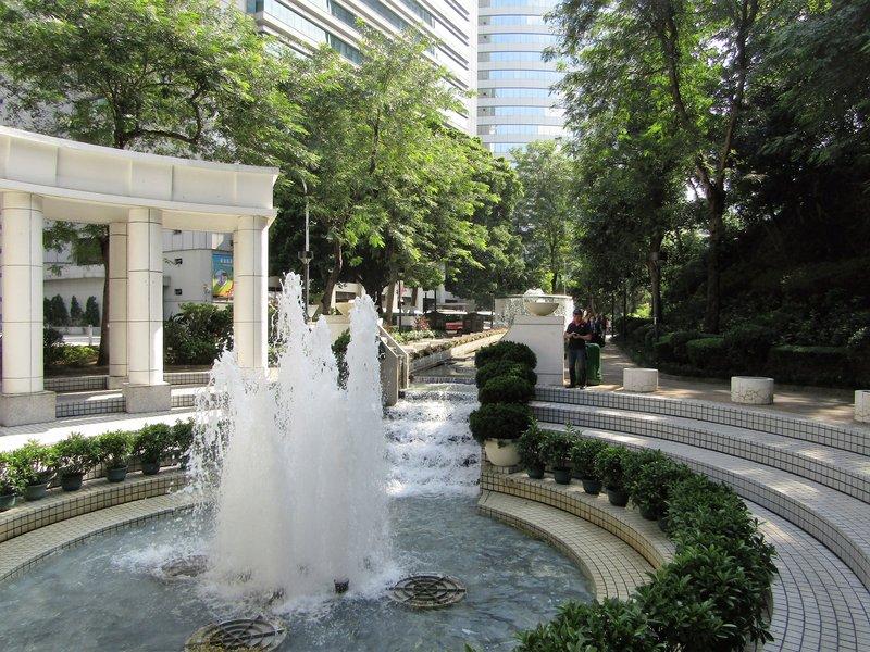 Fountains in Hong Kong Park