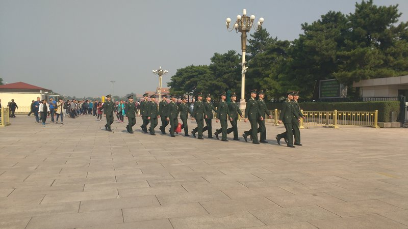 Frequent sighting of soldiers marching
