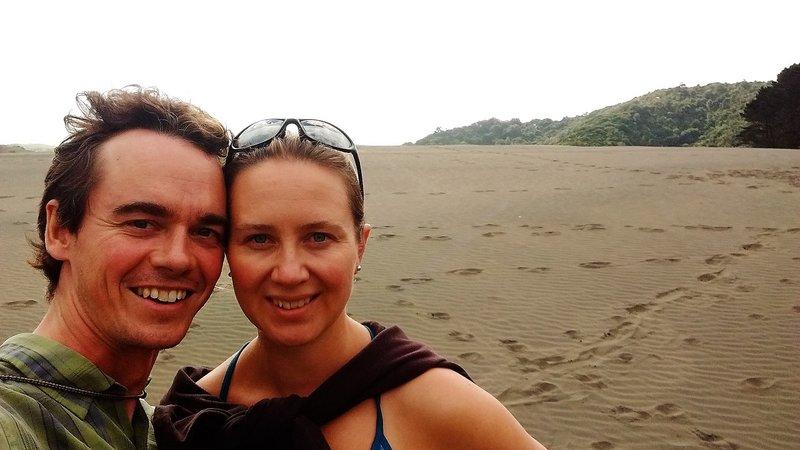 Giant sand dunes at Lake Wainamu