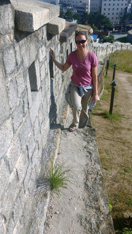 Hiking along city walls