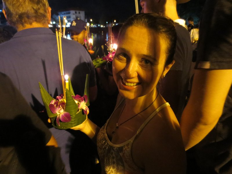 Jill with our Krathong
