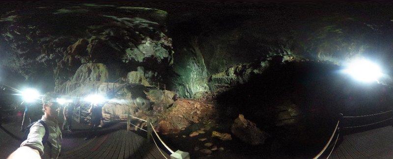 Inside Lang show cave