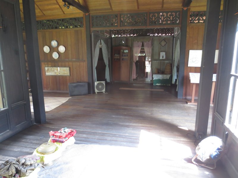 Inside a traditional Malay house from the 1800's