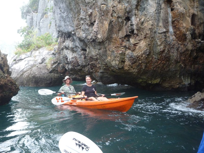 Kayaking on the Andaman Sea