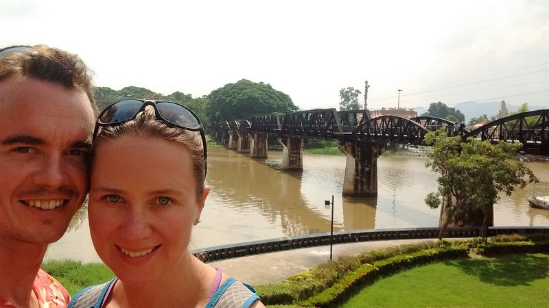 Kwai River Bridge- bombed by US and reconstructed later|Le fameux poont de la riviere Kwai