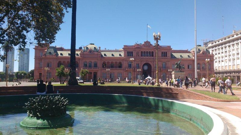 La casa rosada in Plaza de Mayo