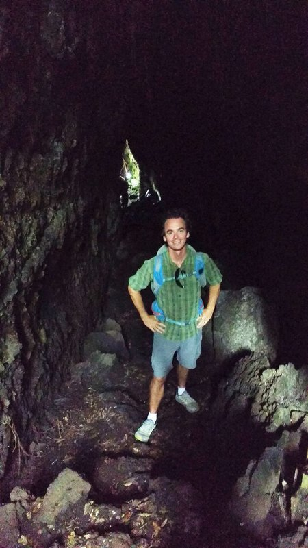 Loic in a lava cave